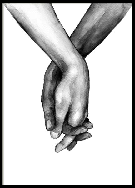 Watercolor Hands No1 Plakat i gruppen Plakater / Illustrasjoner hos Desenio AB (10201)
