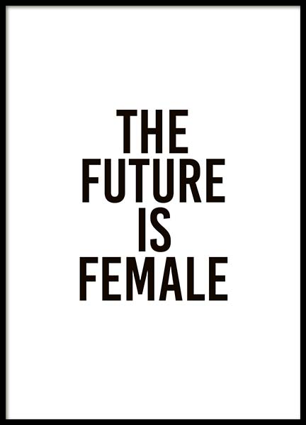 The Future Is Female Plakat i gruppen Plakater / Tekstplakater hos Desenio AB (10293)