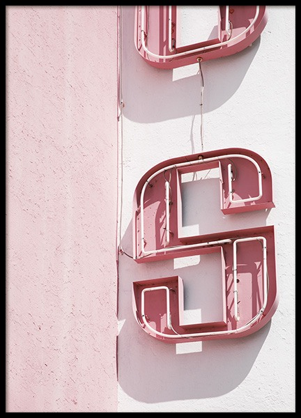 Pink Sign Plakat i gruppen Studio Collections / Studio Coast to Coast / Miami hos Desenio AB (10762)