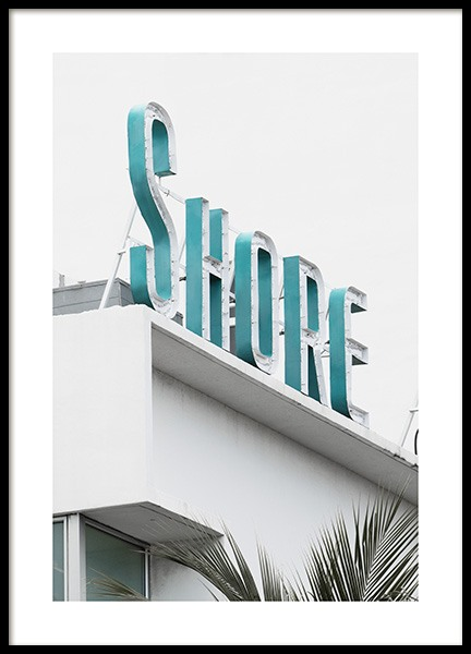 Shore Sign Plakat i gruppen Studio / Coast to coast / Studio Miami hos Desenio AB (10765)