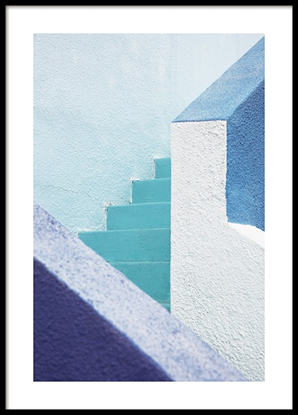 Blue Stairs Plakat i gruppen Studio Collections / Studio Coast to Coast / Miami hos Desenio AB (10775)