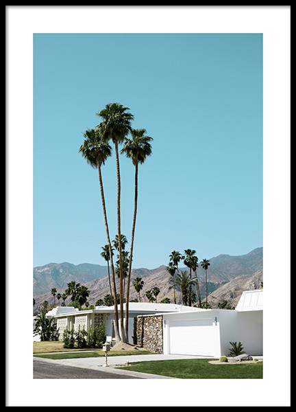 Street of Palm Springs Plakat i gruppen Studio Collections / Studio Coast to Coast / Palm Springs hos Desenio AB (10790)