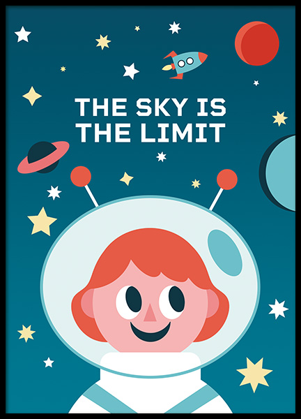 The Sky is the Limit Plakat i gruppen Plakater / Barneplakater hos Desenio AB (11164)