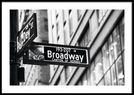 Broadway Sign Plakat i gruppen Studio Collections / Studio Cosmopolitan / New York hos Desenio AB (11311)