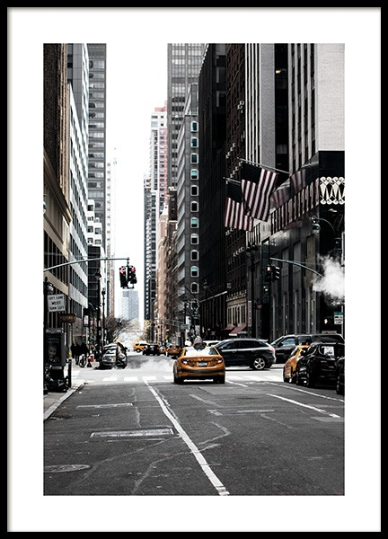 New York Street Plakat i gruppen Studio Collections / Studio Cosmopolitan / New York hos Desenio AB (11326)