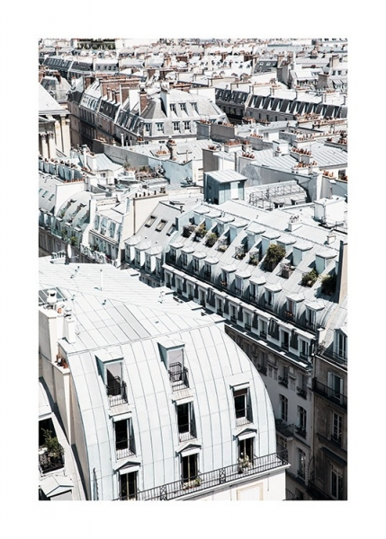 Paris Rooftops Plakat i gruppen Studio Collections / Studio Cosmopolitan / Paris hos Desenio AB (11337)