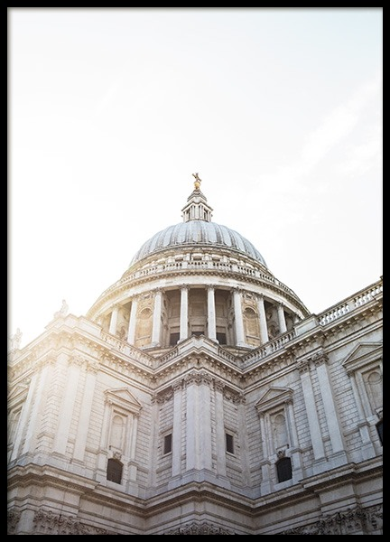St Paul's Cathedral Plakat i gruppen Studio Collections / Studio Cosmopolitan hos Desenio AB (11357)