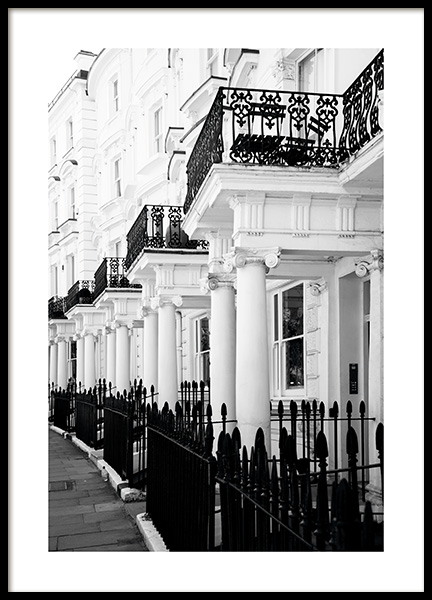 Notting Hill Street Plakat i gruppen Plakater / Studio Collections / Studio Cosmopolitan / London hos Desenio AB (11371)