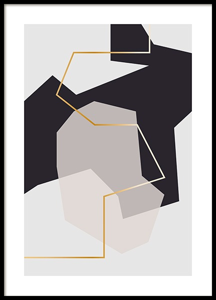 Abstract Fragments No2 Plakat i gruppen Plakater / Kunstmotiv / Abstrakt kunst hos Desenio AB (11997)