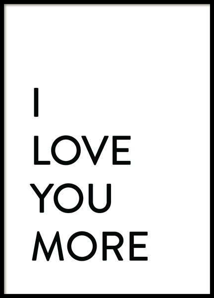 Each Day I Love You No2 Plakat i gruppen Plakater / Tekstplakater hos Desenio AB (12009)