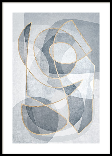 Abstract Blues No2 Plakat i gruppen Plakater / Kunstmotiv hos Desenio AB (13121)