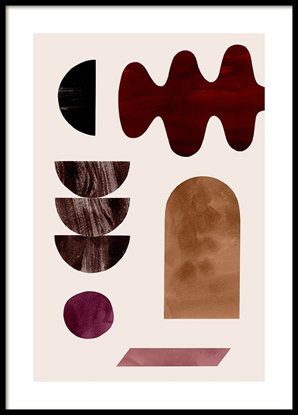 Abstract Collage No1 Plakat i gruppen Plakater / Grafisk hos Desenio AB (13489)