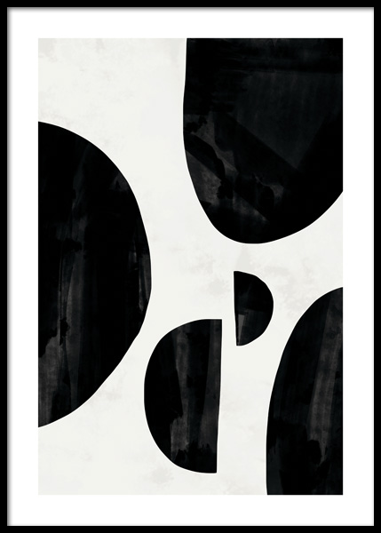 Black Abstract No2 Plakat i gruppen Plakater / Kunstmotiv hos Desenio AB (14772)