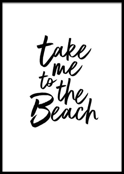 Take Me To The Beach Plakat i gruppen Plakater / Tekstplakater hos Desenio AB (2253)