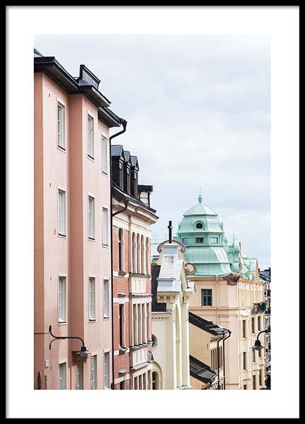Stockholm Rooftops Plakat i gruppen Studio Collections hos Desenio AB (2876)
