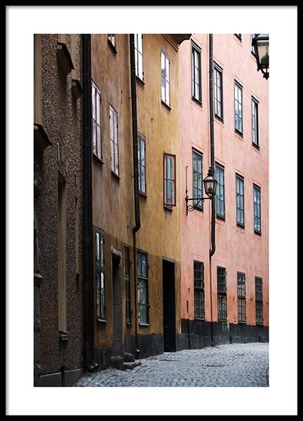 Stockholm Old Town No2 Plakat i gruppen Studio Collections hos Desenio AB (2880)