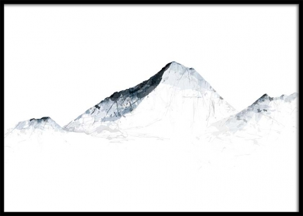 Grey Mountains Everest Plakat i gruppen Plakater / Illustrasjoner hos Desenio AB (2990)