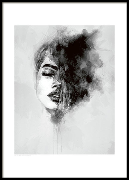 Cool Posters Black And White Plakat med kuns...