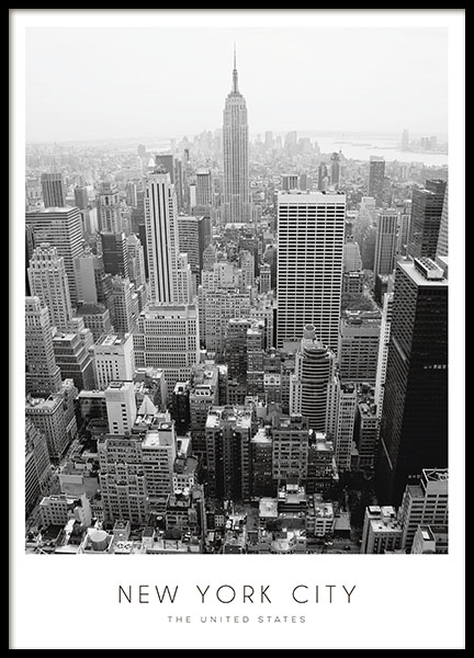 Plakat New York city, posters med foto av byer