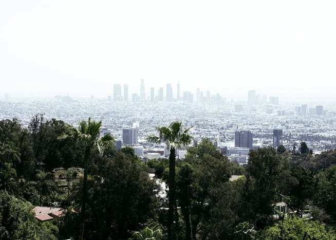 Skyline of Los Angeles Plakat / 50x70 cm hos Desenio AB (10787)