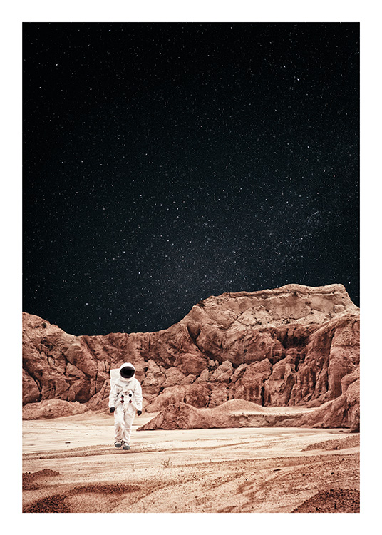 Walking on Mars Plakat / Naturmotiv hos Desenio AB (11170)