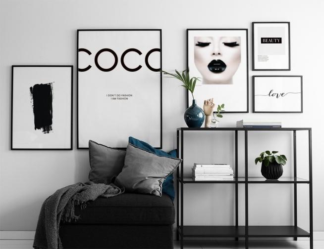coco chanel plakat plakater og posters med fashion sitat posters online. Black Bedroom Furniture Sets. Home Design Ideas