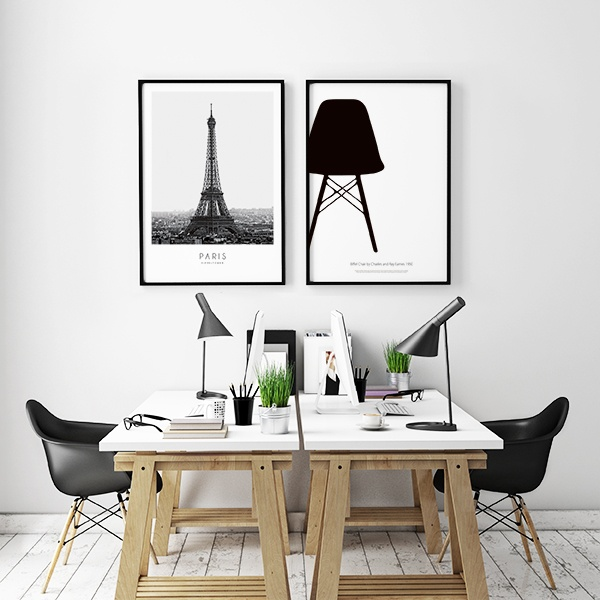 ... med Eiffelt?rnet Paris-plakat Posters og plakater med fotografier