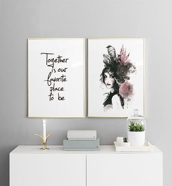 plakat med digital art moderne kunst plakater og posters. Black Bedroom Furniture Sets. Home Design Ideas