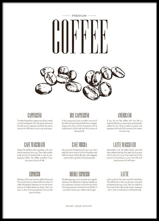 kaffe plakat