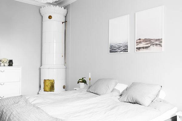 Bildevegg til soverom. innredning og plakater til soverommet