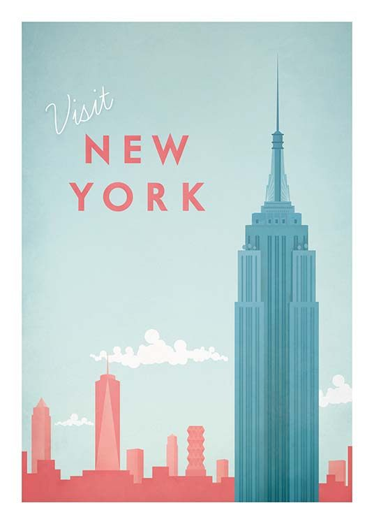 New York Travel Plakat / Vintage hos Desenio AB (pre0011)